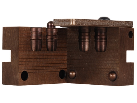 Saeco 2-Cavity Bullet Mold #445 44 Special, 44 Remington Magnum (430 Diameter) 220 Grain Semi-Wadcutter Bevel Base