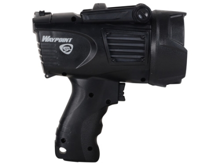 Streamlight WayPoint Spotlight LED requires 4 C Batteries or included 12 Volt DC Power Cord Polymer Black