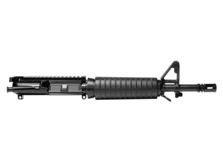 "Del-Ton AR-15 Pistol A3 Flat-Top Upper Assembly 5.56x45mm NATO 1 in 9"" Twist 11.5"" Government Contour Barrel Chrome Moly Matte with CAR-Style Handguard, Flash Hider"