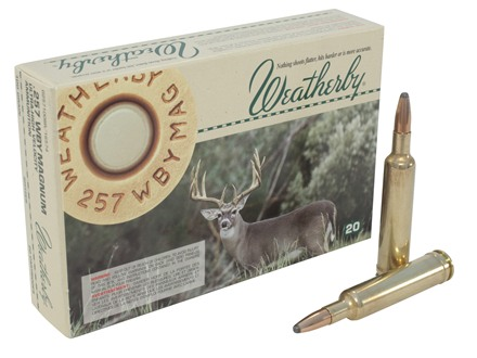 Weatherby Ammunition 257 Weatherby Magnum 100 Grain Norma Spitzer Box of 20
