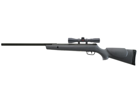 Gamo Hornet Air Rifle 177 Caliber Pellet Black Synthetic Stock Blue Barrel with Gamo Airgun Scope 4x 32mm Matte