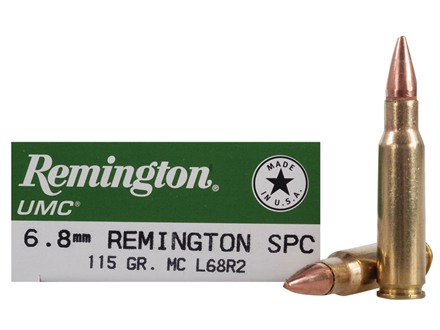 Remington UMC Ammunition 6.8mm Remington SPC 115 Grain Full Metal Jacket Box of 20