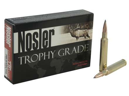 Nosler Trophy Grade Ammunition 280 Remington Ackley Improved 40-Degree Shoulder 150 Grain AccuBond Long Range Box of 20