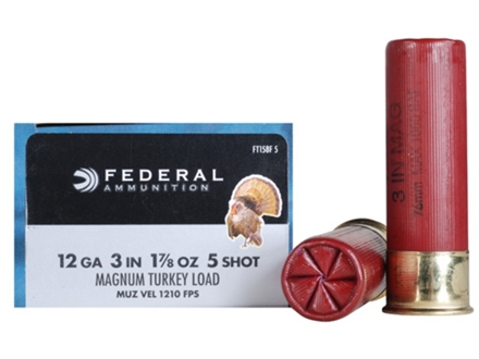 "Federal Strut-Shok Turkey Ammunition 12 Gauge 3"" 1-7/8 oz Buffered #5 Shot Box of 10"