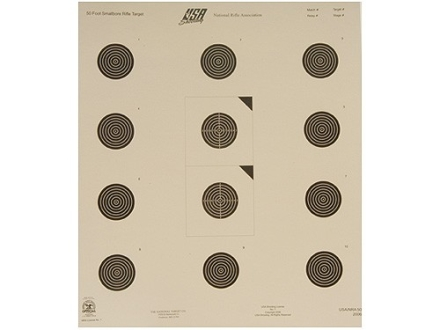 NRA Official USA Shooting Smallbore Rifle Target USA-50 50' Paper Package of 100