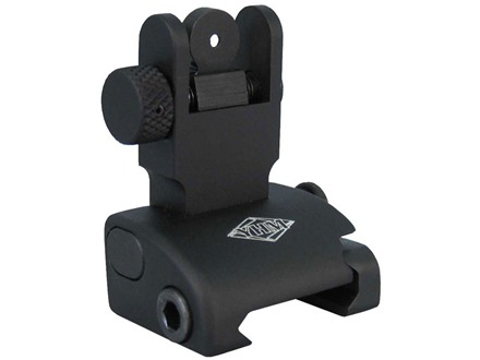 Yankee Hill Machine QDS Quick Deploy Flip-Up Rear Sight Dual Aperture AR-15 Flat-Top Aluminum Matte