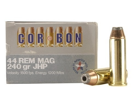 Cor-Bon Hunter Ammunition 44 Remington Magnum 240 Grain Jacketed Hollow Point Box of 20