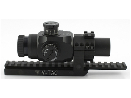 Valdada IOR Tactical Rifle Scope 30mm Tube 3x 25mm 223 BDC Turret Illuminated CQB Reticle with Integral Picatinny-Style Mount Matte