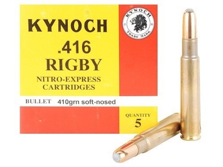 Kynoch Ammunition 416 Rigby 410 Grain Woodleigh Weldcore Soft Point Box of 5