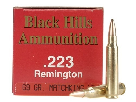 Black Hills Ammunition 223 Remington 69 Grain Sierra MatchKing Hollow Point Box of 50