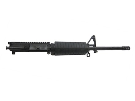 "CMMG AR-15 M4 LE A3 Flat-Top Upper Assembly 300 AAC Blackout 1 in 7"" Twist 16"" Barrel Carbine Gas System WASP Melonite Finish CM with M4 Handguard, A2 Front Sight, Flash Hider"
