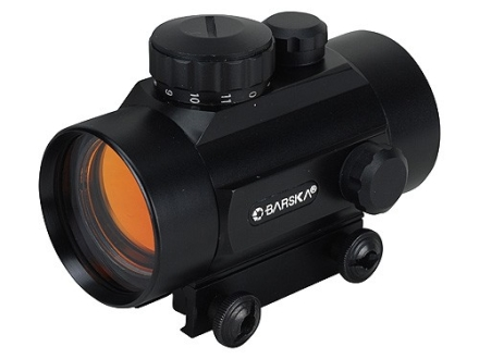 Barska Red Dot Sight 42mm Tube 1x 5 MOA Dot with Integral Weaver-Style Mount Matte