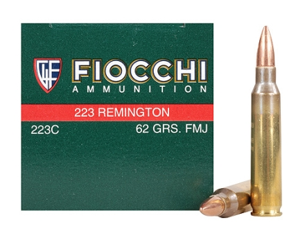 Fiocchi Shooting Dynamics Ammunition 223 Remington 62 Grain Full Metal Jacket Box of 50