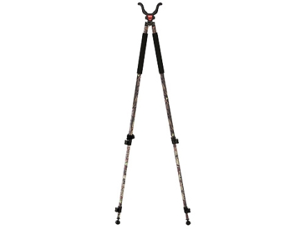 "Bog-Pod CLD-2 (Camo Legged Devil) Tall Bipod Shooting Sticks 22"" to 68"" Swivel Head All-Terrain Feet Black and Camo"