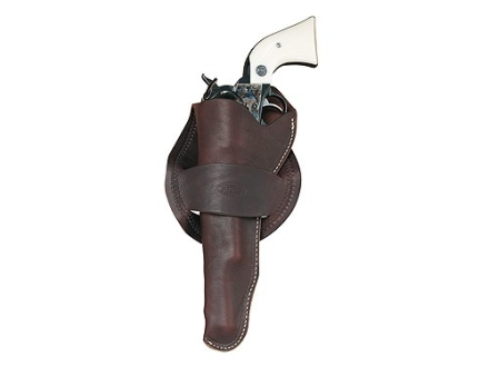 "Hunter 1089 Western Crossdraw Holster Left Hand Colt Single Action Army, Ruger Blackhawk, Vaquero 7.5"" Barrel Leather Antique Brown"