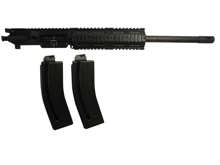 "Chiappa AR-15 MFour Gen II Pro Upper Assembly 22 Long Rifle 1 in 16"" Twist 18.5"" Barrel 7.8"" Free Float Quad Rail Handguard, Two 28-Round Magazines"