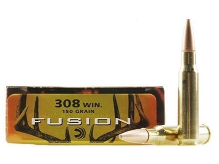 Federal Fusion Ammunition 308 Winchester 150 Grain Spitzer Boat Tail Box of 20