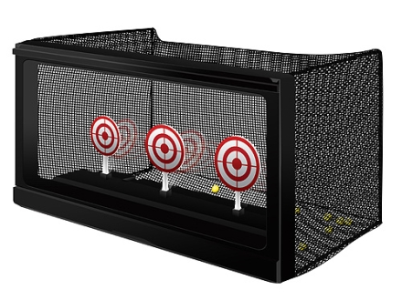Leapers UTG AccuShot Competition Mechanical Reset Airsoft Target Set with Mesh Trap Black