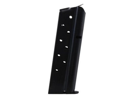 Metalform Magazine 1911 Government, Commander 9mm Luger 9-Round Steel Blue Flat Follower Welded Base