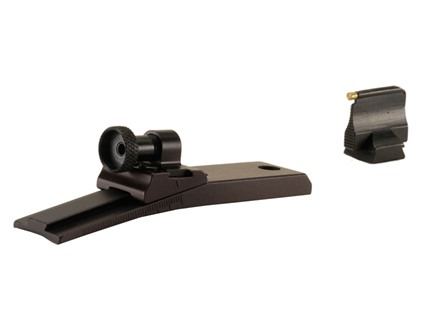 "Williams WGRS-RU22 Guide Receiver Peep Sight Set Ruger 10/22 with Front Sight 570M 1/16"" Gold Bead Aluminum Black"