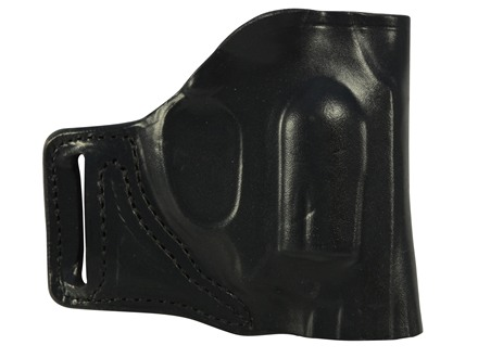 DeSantis L-GAT Outside the Waistband Slide Holster Right Hand Smith & Wesson J-Frame Leather Black