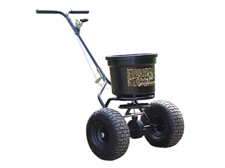 Biologic 50 lb Push Broadcast Spreader Steel and Polymer Black
