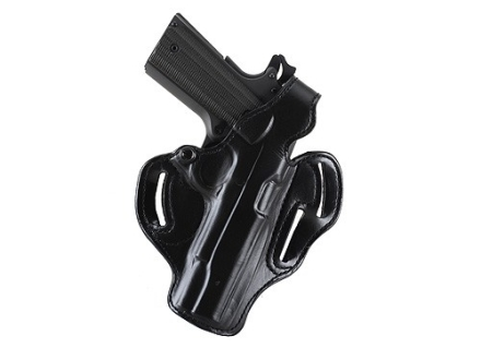 "DeSantis Thumb Break Scabbard Belt Holster Right Hand S&W K-Frame 4"" Barrel Suede Lined Leather Black"
