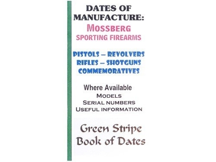 "Green Stripe Data Books ""Mossberg"" Book by Firing Pin Enterprises"