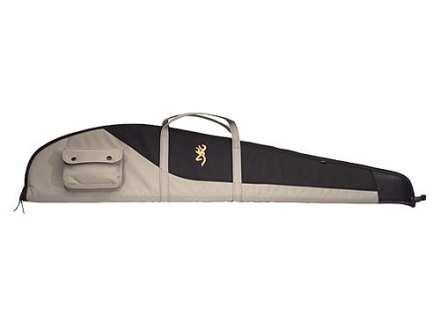 "Browning Cimmaron Scoped Rifle Gun Case 48"" Nylon Canvas Black and Tan"