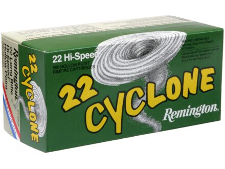 Remington Cyclone Ammunition 22 Long Rifle 36 Grain Lead Hollow Point Box of 50