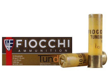 "Fiocchi Tundra Ammunition 20 Gauge 3"" 1 oz #2 Non-Toxic Tungsten Shot Box of 10"