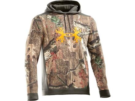 Under Armour Men's Charged Cotton Camo Antler Hooded Sweatshirt Cotton Mossy Oak Break-Up Infinity Camo Medium 38-40