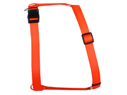 "Remington Adjustable Dog Harness 3/4"" x 18-30"" Nylon Blaze Orange"