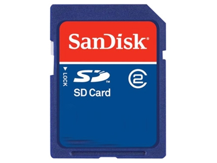 Sandisk 2 GB SD Memory Card