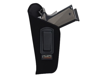 "Uncle Mike's Open Style Inside the Waistband Holster Left Hand Large Frame Semi-Automatic 3-.75"" to 4.5"" Barrel Ultra-Thin 4-Layer Laminate  Black"