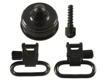 "Uncle Mike's Quick Detachable Sling Swivel Cap Set Remington 870 (Ball and Detent-Type System) 20 Gauge 1"" Black"