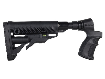 Mako M4-Style Collapsible Buttstock with Recoil Reducing Shock Absorber Mossberg 500, 590 Synthetic Black
