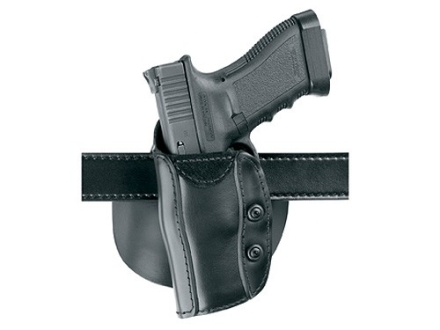 "Safariland 568 Custom Fit Belt & Paddle Holster Left Hand Colt King Cobra, Python, Trooper, Ruger GP100, Security Six, Speed Six, S&W K & L Frames 4"" - 4.5"" Barrel Composite Black"