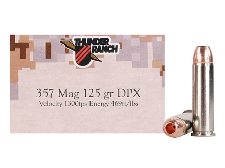 Cor-Bon Thunder Ranch DPX Defensive Ammunition 357 Magnum 125 Grain Barnes TAC-XP Hollow Point Lead-Free Box of 20