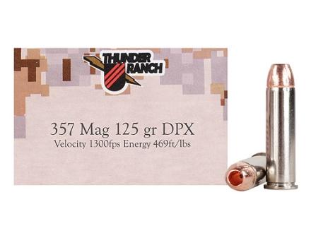 Cor-Bon Thunder Ranch DPX Defensive Ammunition 357 Magnum 125 Grain Barnes TAC-XP Hollow Point Lead-Free Box of 20