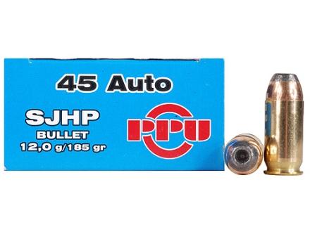 Prvi Partizan Ammunition 45 ACP 185 Grain Semi-Jacketed Hollow Point Box of 50