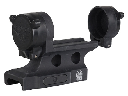 GG&G Bolt On Aimpoint Micro T-1, R-1, H-1 Sight Mount with Integral Flip-Up Lens Covers Picatinny-Style Matte