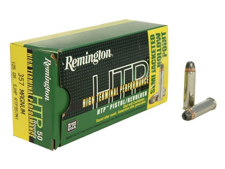 Remington High Terminal Performance Ammunition 357 Remington Magnum 125 Grain Semi-Jacketed Hollow Point Box of 50