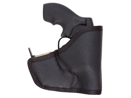 Tuff Products Pocket-Roo Pocket Holster Ambidextrous Holds 5-Round .38/357 QuickStrip S&W J-Frame, Ruger LCR, 340PD Laminate Black