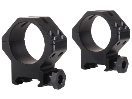Weaver 30mm Tactical 4-Hole Skeleton Weaver-Style Rings Matte Medium
