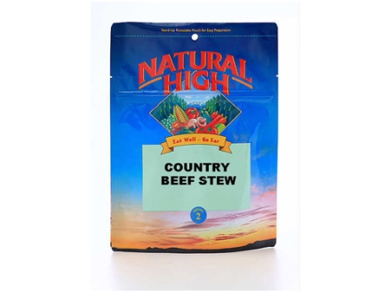 Natural High Country Beef Stew Freeze Dried Meal 5 oz