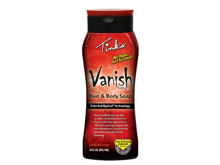 Tink's Vanish Scent Eliminator Hair and Body Soap Liquid 10 oz