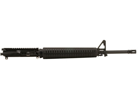 "Olympic Arms AR-15 A3 Flat-Top Upper Assembly 223 Remington 1 in 9"" Twist 20"" Barrel Chrome Moly Matte with A2 Handguard, A2 Front Sight, Flash Hider"