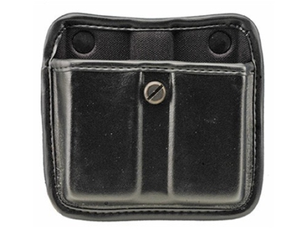 Bianchi 7922 AccuMold Elite Triple Threat 2 Magazine Pouch Beretta 92, 96, Browning Hi-Power Trilaminate High-Gloss Black