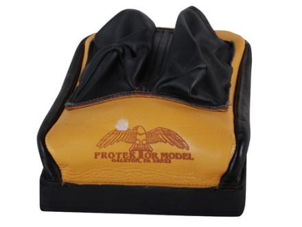 Protektor Custom Bumble Bee Dr Mid-Ear Rear Shooting Rest Bag Leather Tan Unfilled